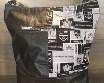 Bonnie Bucket Bag, Slouchy, Hobo Style, Los Angeles Kings