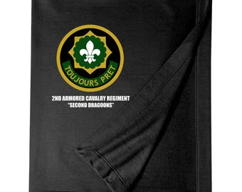 2nd Armored Cavalry Regiment Embroidered Blanket-4185