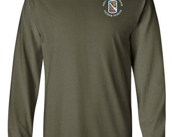 "198th Light Infantry Brigade ""Vietnam""  Long-Sleeve Cotton Shirt-8536"