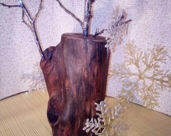 Handmade wood vase