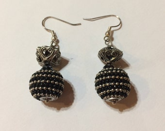 Black/Silver earrings