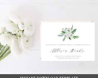 memorial invitations