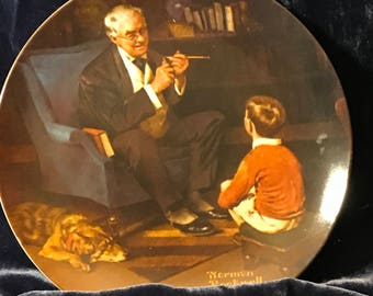 Knowles The Tycoon Norman Rockwell plate from the Rockwell Heritage Collection