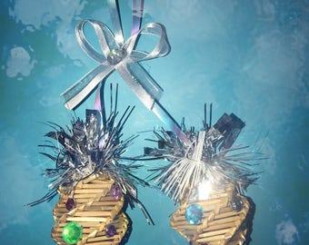 Wheat Woven Christmas Ornament