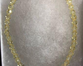 Pale Yellow Swarovski Crystal Bracelet