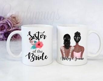 Sister of the Bride/Maid of honor coffee mug/Personalized sister maid of honor gift/sister bridesmaid mug/wedding gift