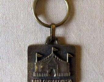 Barcelona Spain marquee brass key holder