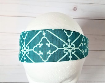 Fabric headband, elastic headband,multiple fabric choices, women's headbands, Hippie colors, Flannel pattern, handmade