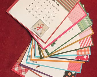 2018 12 Month Handcrafted Calendar