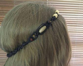 Macrame hair jewellery, necklace, multi purpose jewellery