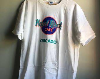 90s Hard Rock Chicago T-shirt - XL