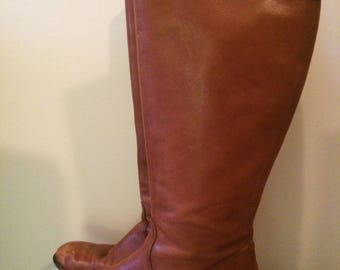 Brown Leather Ciao Bella Riding Boots Size 8