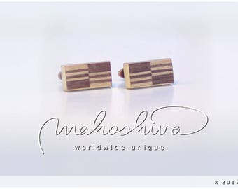 wooden cuff links wood walnut maple handmade unique exclusive limited jewelry - mahoshiva k 2017-35
