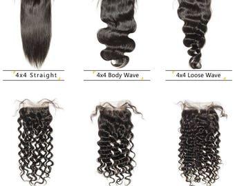 100% Human Hair Lace Closure