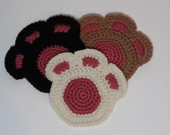 Cat Paw Coaster - [Set of 4]