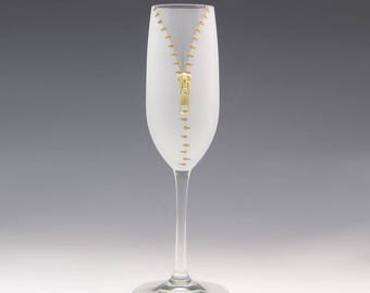 XYZ Zipper Champagne Glass - A slightly naughty but way fun way to enjoy your bubbly!