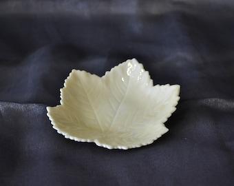 Belleek Leaf Shaped Dish -  5th Mark 1955-1965