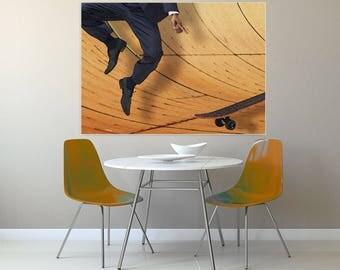 Life details 6,, skate, skateboard, modern picture, skatepark, landscape, author's print, yellow
