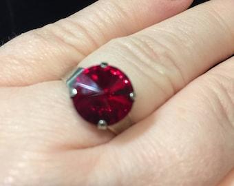 Crystal Adjustable Ring