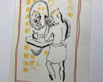 God Man Body Wash Original Drawing