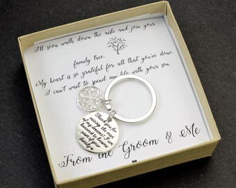 Mother of the Groom gift family tree from bride necklace Father of the groom gift Mother in Law Gift Father Mother in law wedding gift