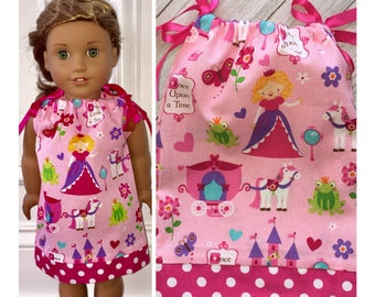 "18"" Doll Clothes/Doll Pillowcase Dress/American Girl Dress/Little Princess"