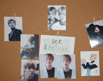 Set of 8 photocards bts and others (10 x 7.5)