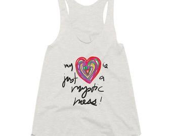 My Heart is Just a Mystic Mess Women's Tri-Blend Racerback Tank