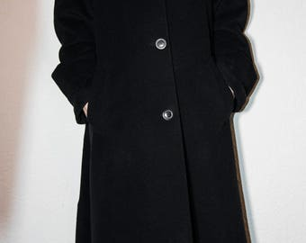 Vintage trench coat Black Medium- Large