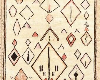 OUMAYMA Contemporary Handmade Moroccan Rug, 8.5 x 9.7 ft