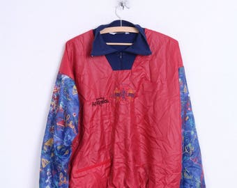New Line Andreas Mens M Track Top Jacket Sweatshirt Zip Neck Vintage