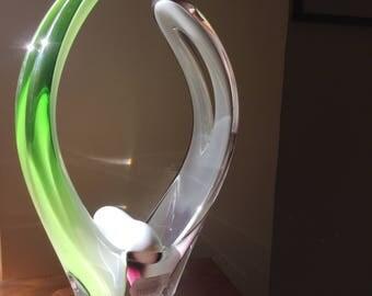 Paul Kedelv Art Glass Vase for Flygsfors, Sweden.