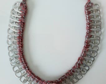 Crocheted caps necklace