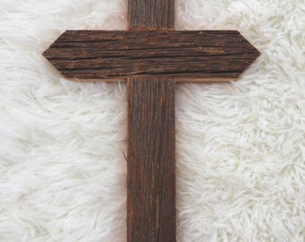 "Rustic Barn Wood Cross 12"""