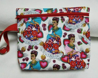 Frida Kahlo Makeup Bag- Makeup bag - Toiletry Bag - Cosmetic Bag - Travel Bag - Zipper Bag -Pencil Case-Pouch
