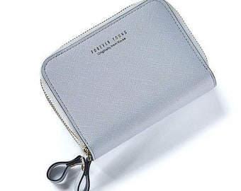 Mini women's wallet Double Zipper