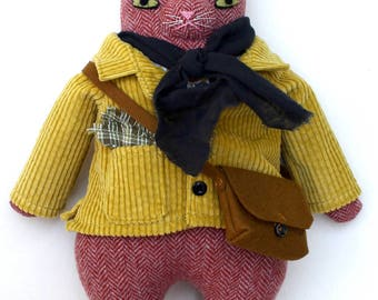 Orange Kitty boy wool doll plush