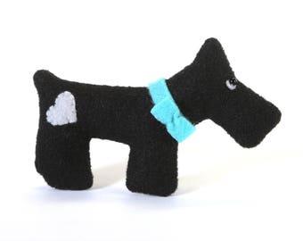 small stuffed animals - scottish terrier dog - stuffed animal - eco friendly gifts