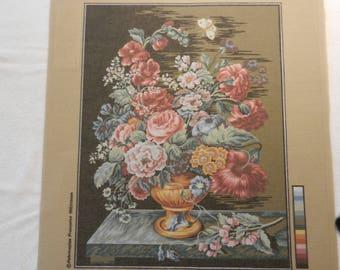 Needlepoint by Margot of Paris..Summer Bouquet..50x65cm3105