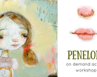 Penelope - online acrylic face painting workshop
