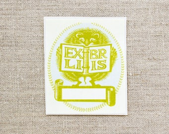 hedgehog bookplate stickers - custom bookplates - ex libris - personalized gift - book plates - bookplates for kids - gifts under 20