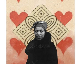 queen of hearts aka free indeed zora neale hurston print