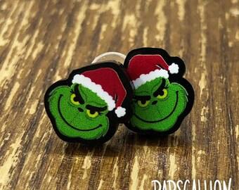 Grinch Inspired Christmas Earrings