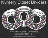 Dinosaurs Nursery Closet Dividers, Baby Closet Dividers, Baby Boy Decor, Baby Shower Gift, Dino Nursery Decor