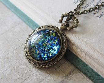 Prism Collection - Black Opal - Color Changing Constellation Pendant