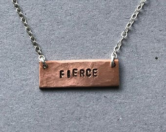 Fierce Stamped Necklace