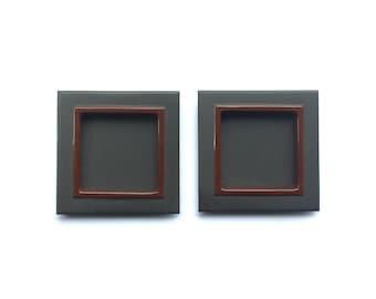Japanese Door Pulls - Sliding Door Pulls - Pocket Door Pulls - Japanese Vintage Door Pulls Gray Black Red DP6-22