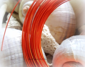 Artistic Wire Silver Plated Tangerine 20 GA, 18 GA Wire, Wire Wrapping, Chainmaille, Jewelry Making, Tarnish Resistant Wire
