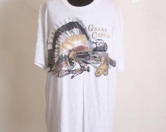 Vintage 1990s Grand Canyon Tourist Native T Shirt size L