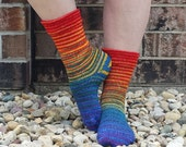 Over the Rainbow Gradient Striped Matching Socks Set Yarn, dyed to order - pick your size, pick your yarn base